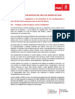 Manifiesto 8 Marzo 2018