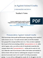 Pronunciation Against Animal Cruelty
