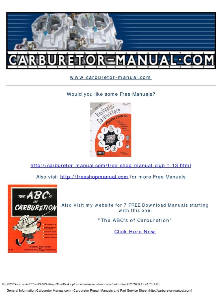 1953 1967 Corvette Specification Guide | Carburetor | Wheeled Vehicles