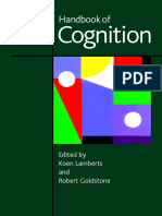 Handbook of Cognition Edited by KOEN LAMBERTS and ROBERT L. GOLDSTONE 2005