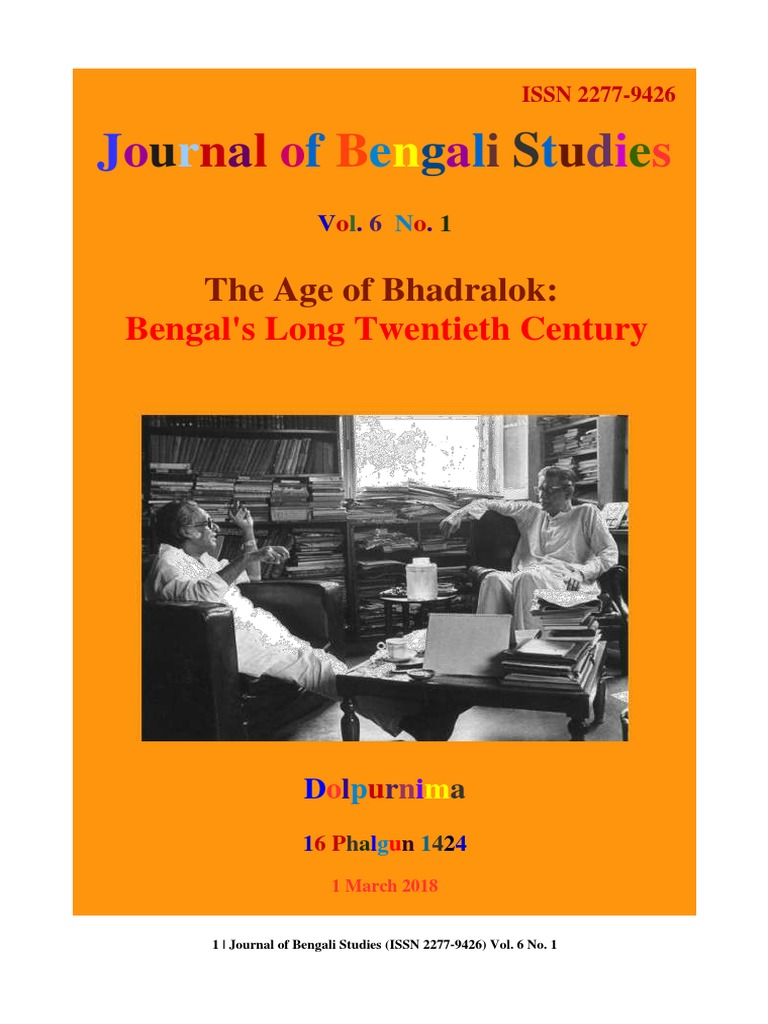Journal of bengali studies vol6 no1 rabindranath tagore bengal fandeluxe Choice Image