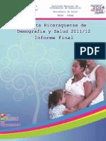 Encuesta Nicaragüense de Demografía y Salud ENDESA 2011 – 2012_Informe Final