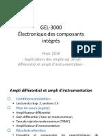 Cours 2 Fevrier - Ampli Differentiel Et Instrumentation