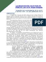 Acerca de La Negociación Colectiva en El Sector Público