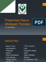 Status Mielopati Thoracal