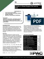 MultiTek - App Note - Analysis of Sulfur in Diesel Engine Fuel
