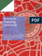 SAS Research Training Brochure 2017-18