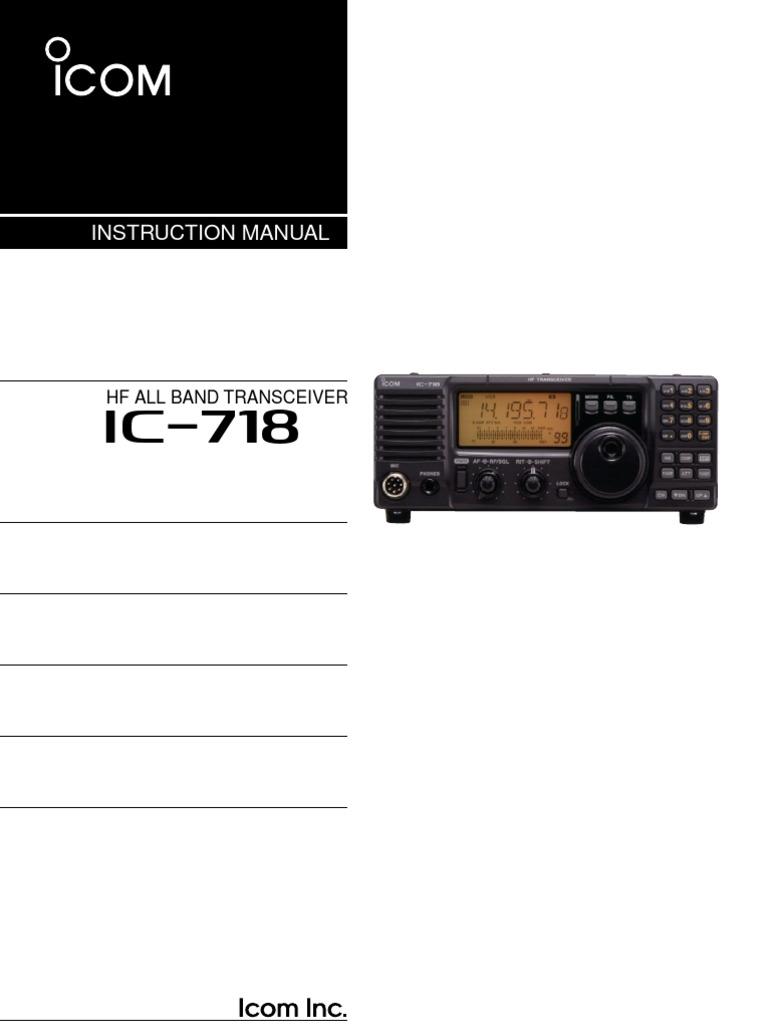 Icom 718 Alc Adjustment