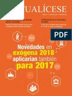 Revista Actualicese Novedades Exogena 2018 Aplicarian Tambien Para 2017