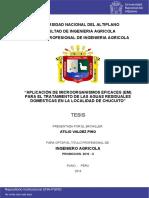 Aplicacion de Microorganismos Eficaces Para El Trat de Aguas Residuales en Chicuito by Valdez_Pino_Atilio