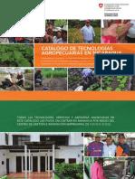 Catalogo de Tecnologias Agropecuarias en Nicaragua