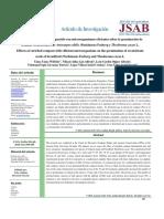 Efectos de Un Compost Enriquecido Con Em Sobre La Germinacion de Semillas Recalcitrantes de Artocarpus y Theobroma by Yanez Et Al