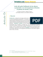 Evaluacion Del Poder Fertilizante de Dos Abonos Organicos Preparados Con Em en Plantas de Tomate by Gutierrez Et Al