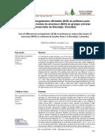 Uso de Microorganismos Eficientes en Pollinasa Para Disminuir Los Niveles de NH3 en Granjas Avicolas Colombia