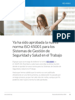 Ya Fue Aprobada La Norma ISO 45001