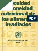 Inocuidad e Idoniedad Nutricional de Los Alimentos Irradiados