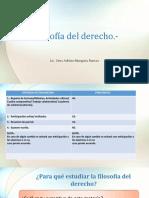 1.- Filosofía Del Derecho Aspecto Generales 02.2018