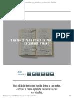 9 Razones Para Poner en Práctica La Escritura a Mano - Ecoosfera