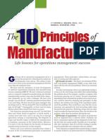 10 principles of manufacturing
