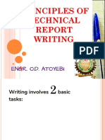 Principle of Technical Report Writing
