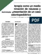 Auriculoterapia Para Nauseas Caso Clinico