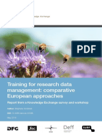 Training for RDM - Comparative European Approaches May 2016
