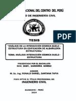 Analisis Interaccion Sismica Suelo- Estructura