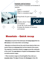 Mountains and Its Features - u