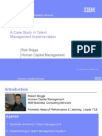 Case Study in Talent Managment Implementation by IBM