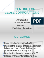 Accounting for Close Corporations