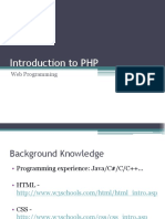 1. Introduction to PHP