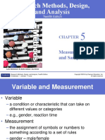 Chapter 5 - Measuring Variables and Sampling