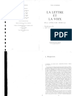 Zumthor La Lettre Et La Voix