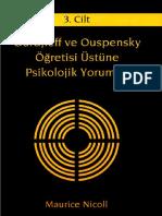Maurice Nicoll - Gurdjieff Ve Ouspensky Öğretisi Üstüne Psikolojik Yorumlar 3. Cilt