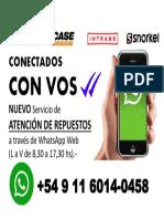 Lanzamiento WhatsApp Web Repuestos