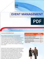 544event Management Short Coruse Brochure