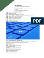 Los Mejores Atajos Para Word y Excel