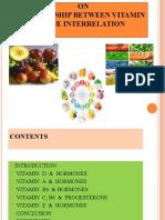 interrelationship between Vitamins and Harmone