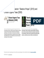 """Plagiarism comparison of """" Seeds of Hope"""" and """"Choice Organic Teas"""" website"""