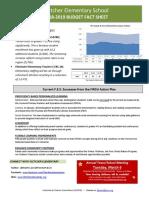 FES FY19 Budget Fact Sheet