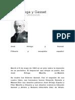 Biografia José Ortega y Gasset