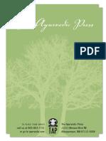 Ayurvedic Press Catalog