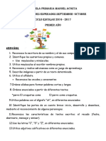 APRENDIZAJES ESPERADOS 1° 2016-2017