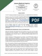 Medicaid Public Notice