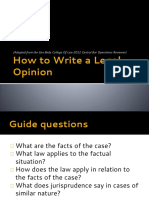 Citations Legal Opinion