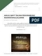 AHLUL BAYT TALIAN PENYAMBUNG RAHMATANLILALAMIN