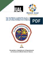 Manual de Entrenamiento Para Lideres de Aventureros