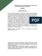 Modelo de Perfil fundamentado en las Competencias de los Gerentes de PDVSA