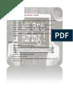 Job posting Sample