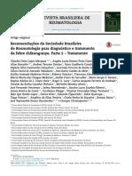 Recomendações Da SBR Para Tto Da Febre Chikungunya